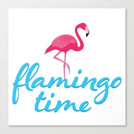 Flamingo time Canvas Print