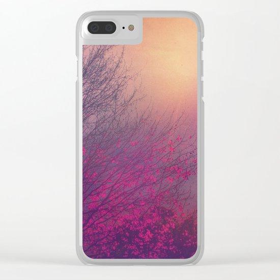 Pink Purple Autumn Dusk Clear iPhone Case