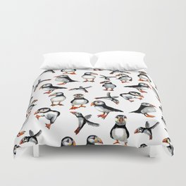 Puffins pattern Duvet Cover