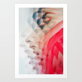 Modern Red Lines Art Print