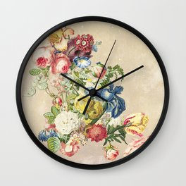 Floral tribute to Louis McNeice (Light) Wall Clock