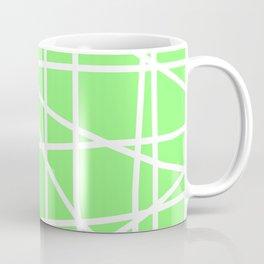 Doodle (White & Light Green) Coffee Mug