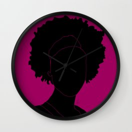 red-violet Wall Clock