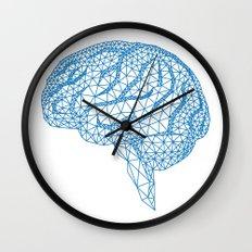 blue human brain Wall Clock
