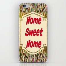 Stained Glass Home Sweet Home  iPhone Skin