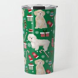Cockapoo dog breed christmas holiday pet portrait pattern gifts Travel Mug