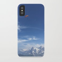 Paragliding Over the Alps iPhone Case