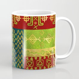 Ethnic African Golden Pattern on color Coffee Mug