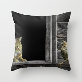 The Eyes are on the Sparrow Throw Pillow