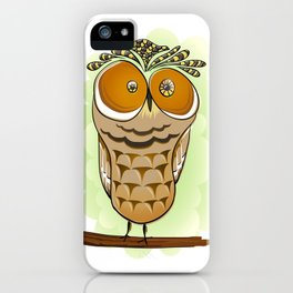 Crazy Owl iPhone Case