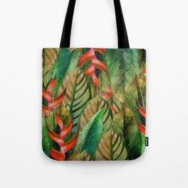 Painted Jungle Leaves 2 Tote Bag