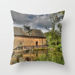 New Hall Mill Throw Pillow