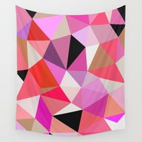 lipstick Wall Tapestries featuring Lipstick Tris by Beth Thompson