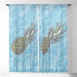 Swimming Pineapple Sheer Curtain