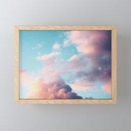 Clouds Paradise Framed Mini Art Print