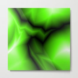 Dark lines of green lightning with a swirling gap Metal Print