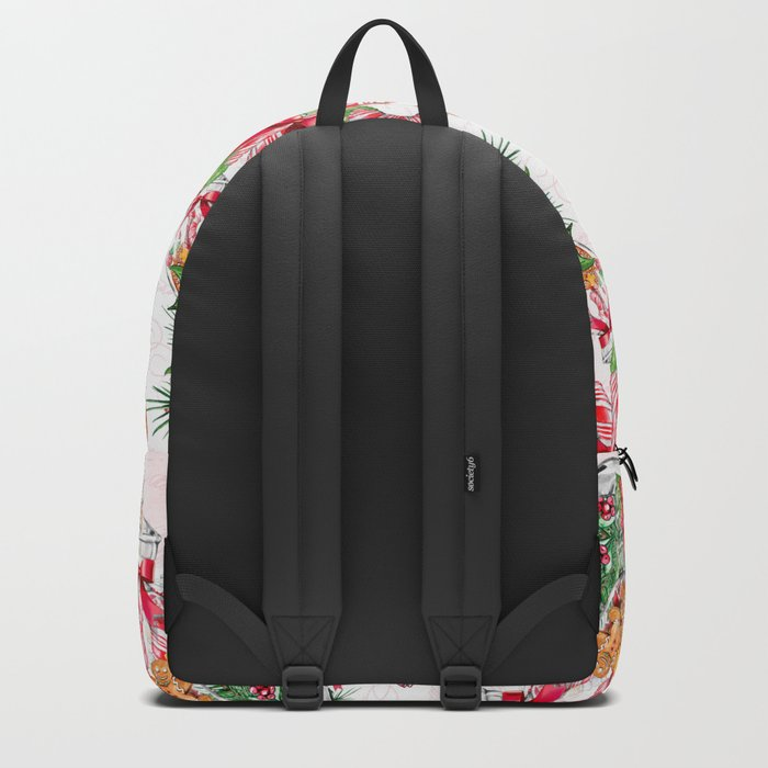 Christmas gingerbread candy cane Backpack
