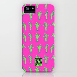 Rude Boy - green & pink iPhone Case