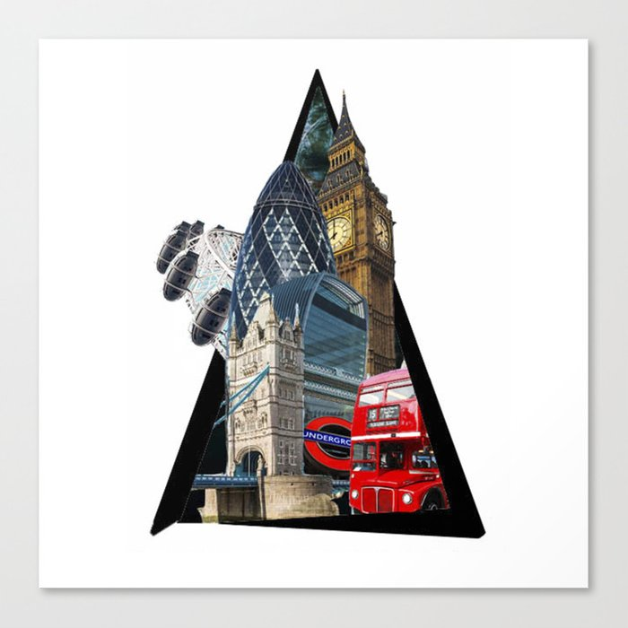 London UK Symbol ArtWork Cities Canvas Print
