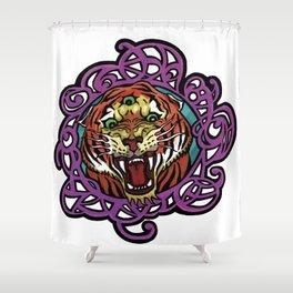 Third Eye Tiger Shower Curtain