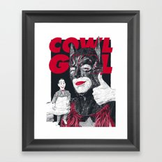 Cowl Girl Design (white) by Guillaume Morellec  Framed Art Print