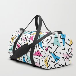 90's Dizzy Funky Colorful Pattern Duffle Bag