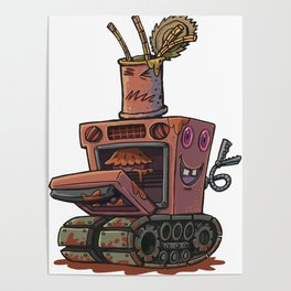Robot pie thrower Poster