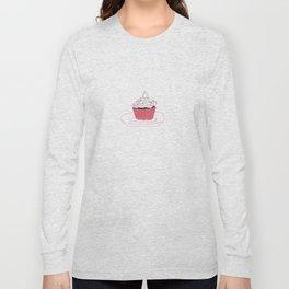 Red Velvet Vegan Cupcake  Long Sleeve T-shirt