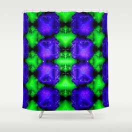 Armee of blue little bugs ... Shower Curtain
