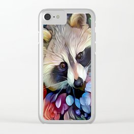 Peekaboo Raccoon Clear iPhone Case