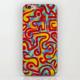 rojo caliente con aguacate iPhone Skin