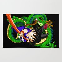 goku Area & Throw Rugs featuring Little Goku by feimyconcepts05