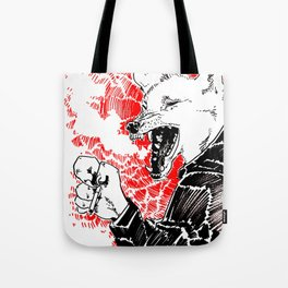 smoke wolf Tote Bag