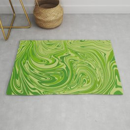 Abstract liquid green marble texture Rug