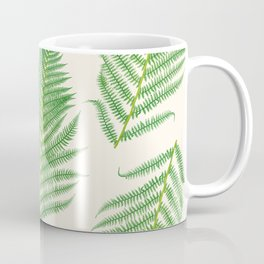 Fern on Cream III - Botanical Print Coffee Mug