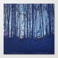Denim Designs Winter Woods Canvas Print