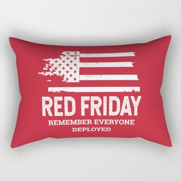 Red Friday RED American Flag Military Rectangular Pillow