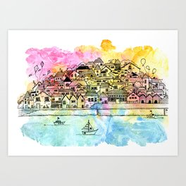 By the Harbour Art Print