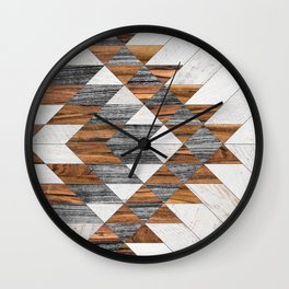 Urban Tribal Pattern No.12 - Aztec - Wood Wall Clock