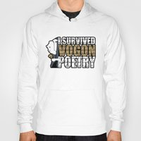 poetry Hoodies featuring Vogon Poetry by Ryan McCondach