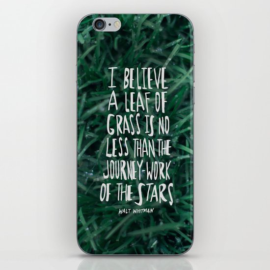 Leaf of Grass iPhone & iPod Skin