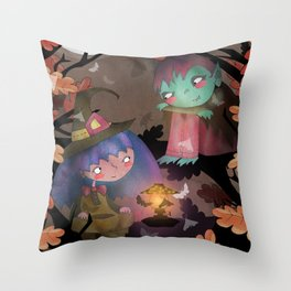 Halloween Hangout Throw Pillow