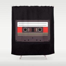Compact Cassette Shower Curtain