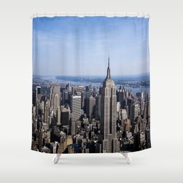 Aerial view of New York City Shower Curtain