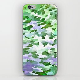 Foliage Abstract In Green and Mauve iPhone Skin