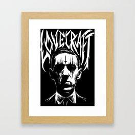 lovecraft metal band creator of cthulhu Framed Art Print