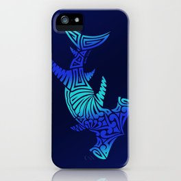Ombre Blues Hammerhead iPhone Case
