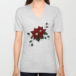 Nochebuena Poinsettia Unisex V-Neck