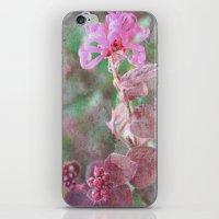 fringe iPhone & iPod Skins featuring Fringe Flower by Sandy Moulder