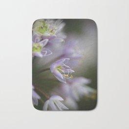 Delicate Purple Flowers Bath Mat